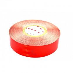 Banda reflectorizanta, suprafete flexibile, 1 m x 5 cm, rosie