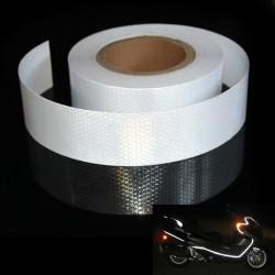 Banda adeziva reflectorizanta argintie, 1 m x 5 cm, rezistenta la apa