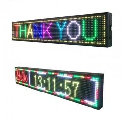 Panou reclama luminoasa, LED RGB, 100x20 cm, text personalizabil, interior