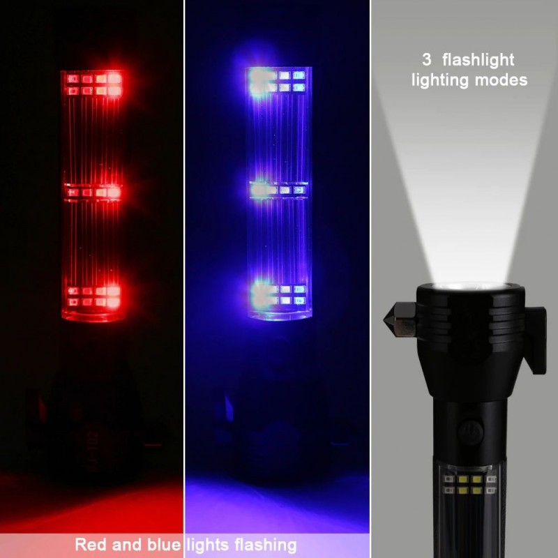 Lanterna auto de urgenta SMD, LED CREE Xpe 3W, 200 lm, alarma, USB, aluminiu