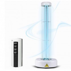 Lampa UV-C bactericida, 55W, suprafata actiune 55 mp, telecomanda, timer, alb