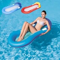 Saltea gonflabila de apa cu perna, 160x84 cm, vinil, 2 camere de aer