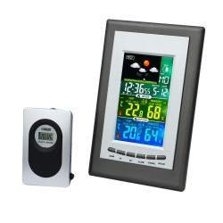 Statie meteo Wireless, afisaj LCD, emitator extern 433 MHz, USB, functie alarma