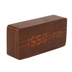 Ceas digital LED, senzor sunet, USB, data, temperatura, design vintage