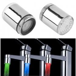 Cap de robinet cu LED RGB, termosensibil, cilindric, adaptor, 6.5 cm