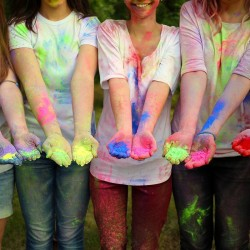 Set 5 culori pudra Neon UV Holi, 100gr/culoare