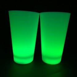 Pahar luminos LED RGB, 8 moduri iluminare, comutator on/off, decor glow