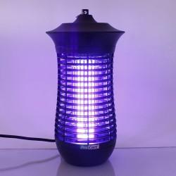 Lampa UV-A anti-insecte 18W, suprafata 160 mp, forma cilindrica, negru