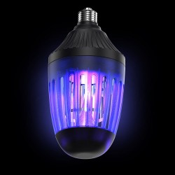 Lampa capcana LED UV-A anti-insecte, 2 in 1, functie bec, soclu E27, 75 mp