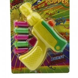 Pistol confetti si fanioane petrecere, 5 cartuse, multicolor