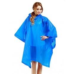 Pelerina de ploaie impermeabila, vinil, marime universala, albastru