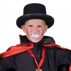 Dantura vampir copii, marime universala, make-up Halloween, alb