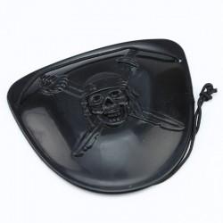 Acoperitoare ochi de pirat, elastic, 6 cm, negru