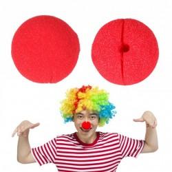 Nas Clown din burete, dimensiuni 5x5 cm, petrecere, rosu