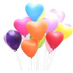 Baloane colorate forma inima, latex, 30 cm, set 100 bucati