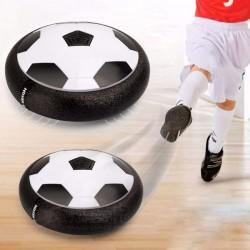 Minge de fotbal tip disc, iluminata in 3 culori, baterii, margine spuma