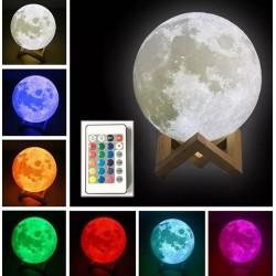 Luna  lámpa, 3D, 20cm, LED...