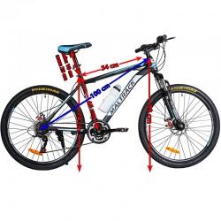 MalTrack Team kerékpár, 18 sebességű, 26 hüvelykes, Shimano sebességváltó, vizes palack, fekete/kék