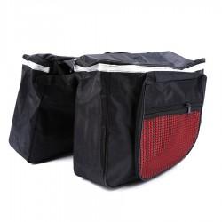 MT MALATEC Dupla kerékpár táska, 4 rekesz, fényvisszaverő, vízálló
