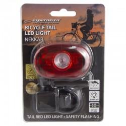 Esperanza kerékpár hátsó lámpa, LED-ekkel, 2 világítási móddal, hátsó rögzítő