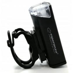 Esperanza XPE LED kerékpáros lámpa, 250 lm, USB töltés, 3 világítási mód, rögzítő heveder