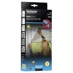Silverline ablakra szerelhető szúnyogháló, méretei 130x150 cm, antracitszürke