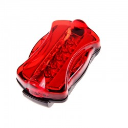 Esperanza kerékpár hátsó lámpa, 5 LED, 7 világítási mód, rögzítőbilincs