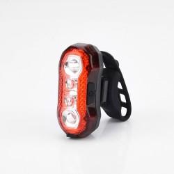 Esperanza kerékpár hátsó lámpa, 5 SMD LED, 120 lumen, USB töltés, 5 világítási mód