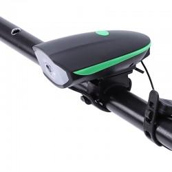 Esperanza kerékpár LED lámpa csengővel, 100 lm, kormányra szerelhető, 3 világítási mód