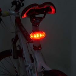 Esperanza Kerékpár hátsó lámpa, 5 LED, vízálló, 7 világítási mód, piros