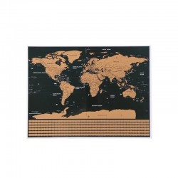 MT MALATEC kaparós világtérkép, angol, zászlók, 82x59 cm, többszínű