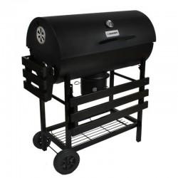 Kaminer BBQ Faszenes grillsütő, fedél hőmérővel, 2 összecsukható polc, kerék