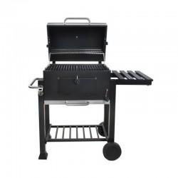 Kaminer BBQ Faszenes grillsütő, fedéllel, 2 polc, hőmérő, fúvó, kerekek