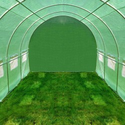 ProCart® kültéri melegház, 2x3m, fémkeret, vízálló fólia, 6 nm, 6 ablakok