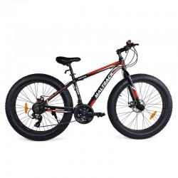 MalTrack Fat Bike Kerékpár, acél kerettel, 26 hüvelykes kerekekkel, 21 sebességű, tárcsafékkel, Shimano sebességváltóval