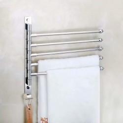 ProCart® Függőleges törölközőtartó, 5 forgókar, acél, kampó, szerelési kiegészítők