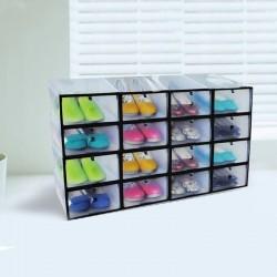 ProCart® Cipőtároló doboz, áttetsző anyag, 21x31x12cm, fehér