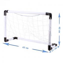 MT MALATEC Foci kapu készlet, labda, pumpa, 2 kapu hálóval, 62x42x31 cm