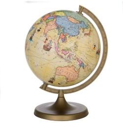ProCart® földgömb, átmérője 22 cm, politikai térkép, híres utazási útvonalak