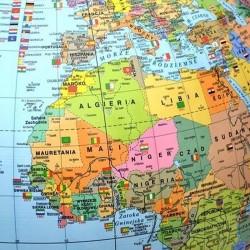 PROCART Politikai földrajzi földgömb, 42 cm, világít, meridián ív, állvány