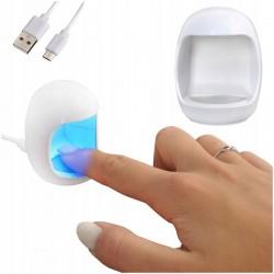 MT MALATEC Mini UV manikűr lámpa, 3W, ujjhoz, USB tápegység, 60s időzítő