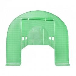 MT MALATEC Védőfólia Kerti Melegházhoz, 12 oldalsó ablak, 2 ajtó, 6x3x2m, zöld