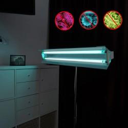 ProCart® Hordozható UVC baktériumölő lámpa, 2x55W, állítható, teleszkópos állvány 100-160 cm, reflektor, 60 nm
