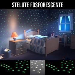 ProCart® Glow foszforeszkáló öntapadós csillag matrica, 10 db készlet, zölden világít, vinyl, 3 cm
