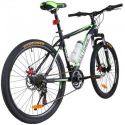 """MalTrack TEAM-STEEL MTB Kerékpár, 26 """" kerék, fekete-zöld"""