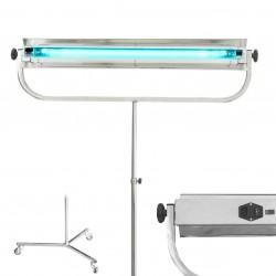 ProCart® UVC baktériumölő lámpa, 30W, rozsdamentes acélból, hordozható kerekes állvánnyal, Phillips cső