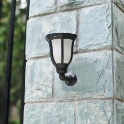 LVT napelemes lámpa, 1W, SMD LED, 60 lm napelemes falfény, 4 világítási mód, hidegfehér, IP54