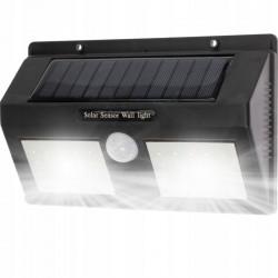 LVT napelemes lámpa, 5 W, 40 SMD LED, 120 fokos mozgásérzékelő, 300 lm, 2400 mAh, hideg fehér