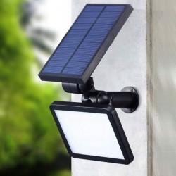 LVT napelemes reflektor, 3W, 48 SMD LED, 4 üzemmód, 200 lm, állítható szög 90 fok, IP65