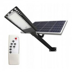 LVT Napelemes utcai lámpa, 120 W LED, távirányító, 30000mAh, 9500lm, napelem 40W, IP65